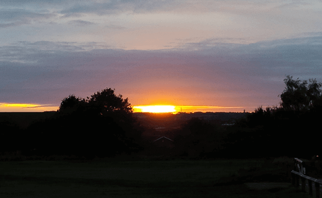 view of sunset at Mansfield